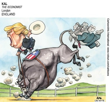 Image result for Cartoon Donald Trump Economics