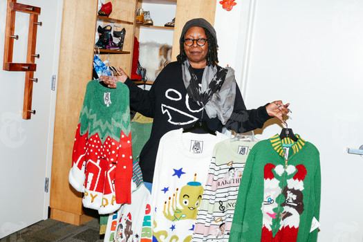 Whoopi Goldberg Christmas Sweaters.New York Times Syndicate