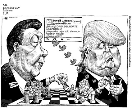 Image result for trump trade xi cartoon